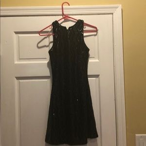 Dress the population sequin fit and flare dress